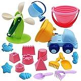 IT IF IT 16 Stück Sandspielzeug Set Für den bevorstehenden Urlaub, Sand und Strandspielzeug für...