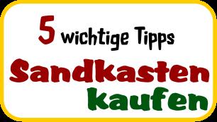 5-Tipps zum Kauf eines Sandkastens